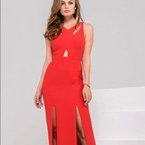 Jovani Red Evening Gown 39818